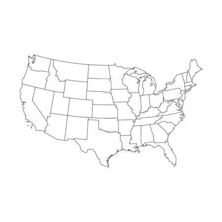 Karte der Vereinigten Staaten von Amerika