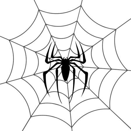 Spinnenweb voorraad vectorillustratie