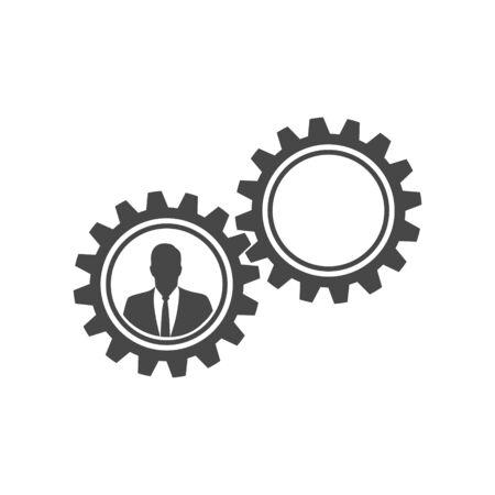 Business human resources Illusztráció