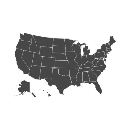 United States of American Map Vetores