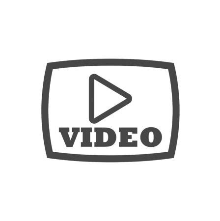 Video button, Play button, icon