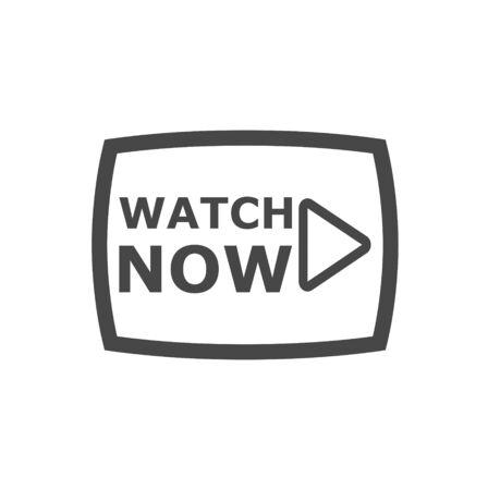 Bouton vidéo, bouton Lecture, icône