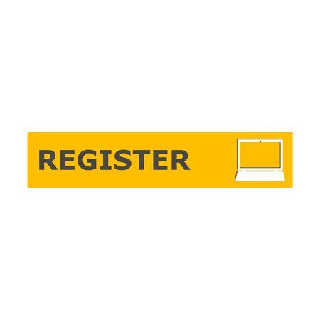 Register banner, Register sign