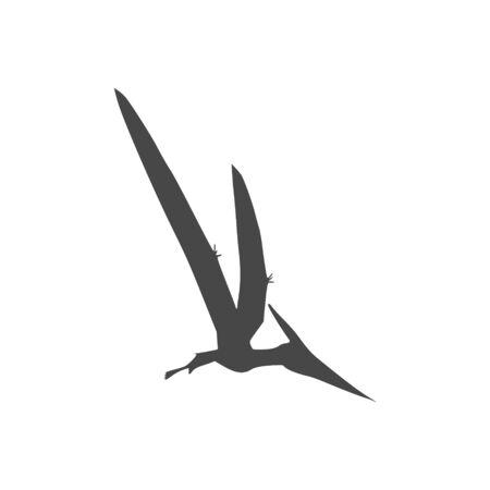 Pterodactyl icon, Vector drawing, Pteranodon bird Banco de Imagens - 137493001