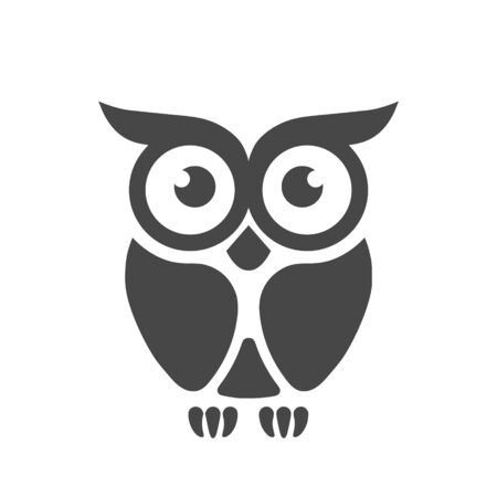 Owl Logo Template, Owl icon simple vector icon