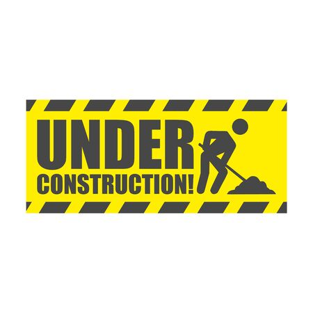Under construction, simple vector sign