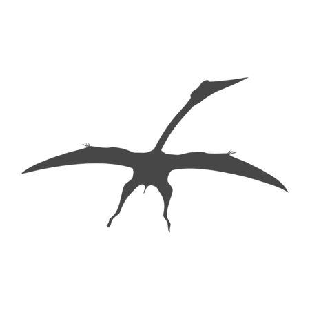 Pterodactyl icon, Vector drawing, Pteranodon bird Banco de Imagens - 137446616