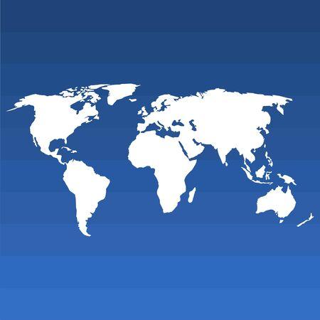 Blank world map, vector illustration 向量圖像