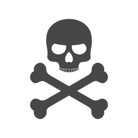 Skull and bones icon Vetores