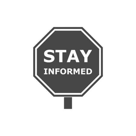 Restez informé signe