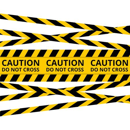 Caution lines isolated, Warning tapes, Danger signs