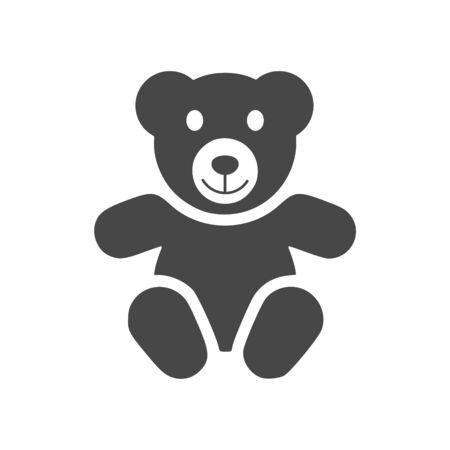 Lindo icono de oso de peluche sonriente