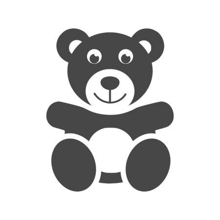 Cute smiling teddy bear icon