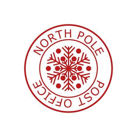 North Pole, post office sign or stamp Standard-Bild - 138472296