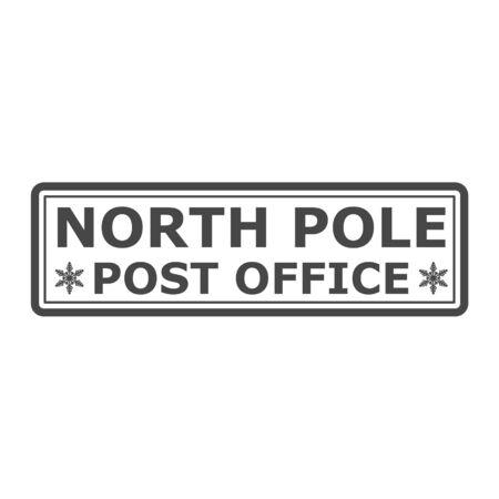 North Pole, post office sign or stamp Standard-Bild - 138472358
