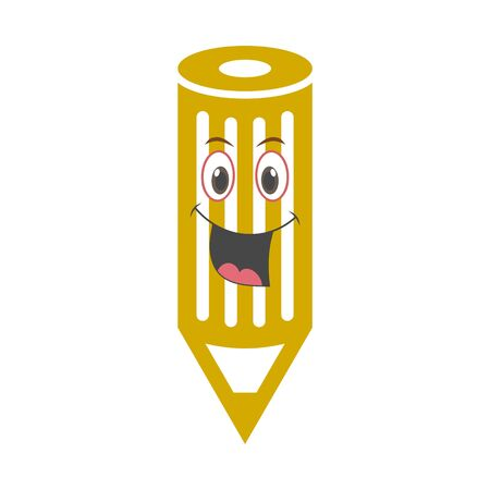 Wood Pencil icon, Smile face   Back to school sign