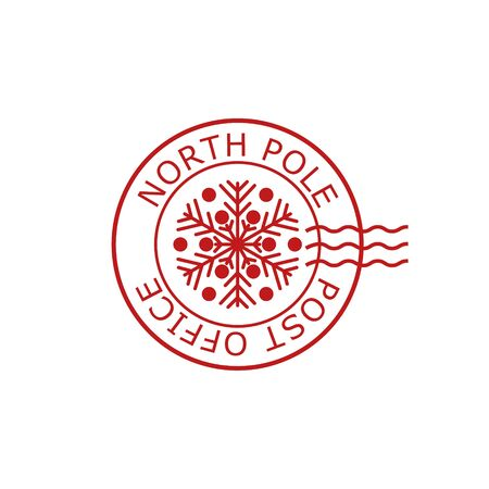 North Pole, post office sign or stamp
