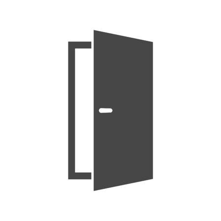 Open door simple vector icon