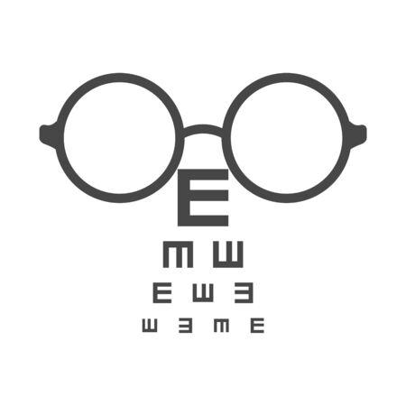 Eye test chart icon