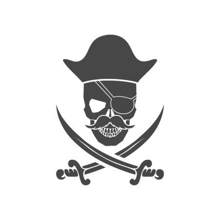 Sea pirate emblem, Pirate icon