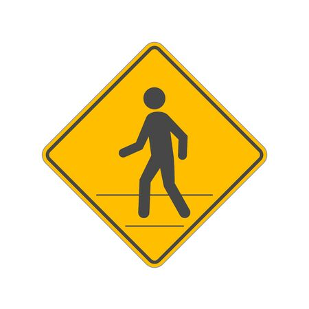 Pedestrian Traffic Sign isolated on white background Illustration