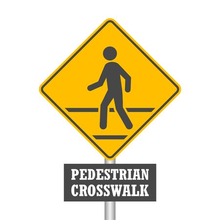 Pedestrian Traffic Sign isolated on white background