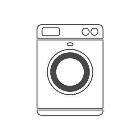Washing machine icon, simple vector Vektorové ilustrace
