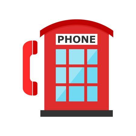 British Telephone Booth Isolated