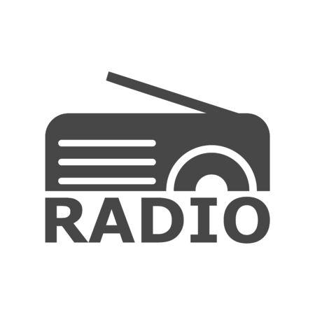 Radio logo, Radio icon, simple vector