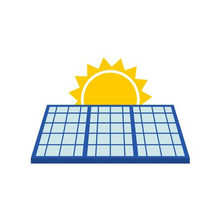 Solar Panel With Sun Icon