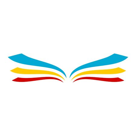 Buchlogo öffnen, Buchsymbol Logo