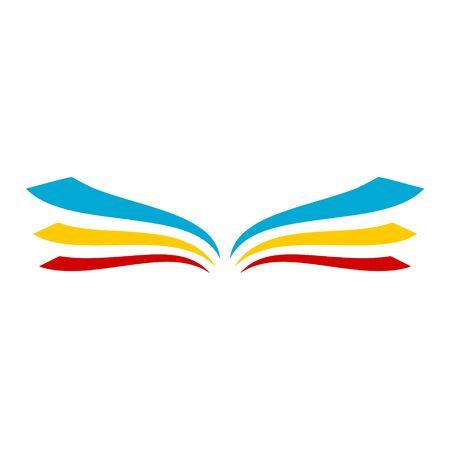 Logotipo de libro abierto, icono de libro Logos
