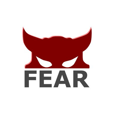Fear icon, Fear logo 일러스트