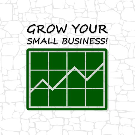 Grow Your Small Business icon Brick Wall
