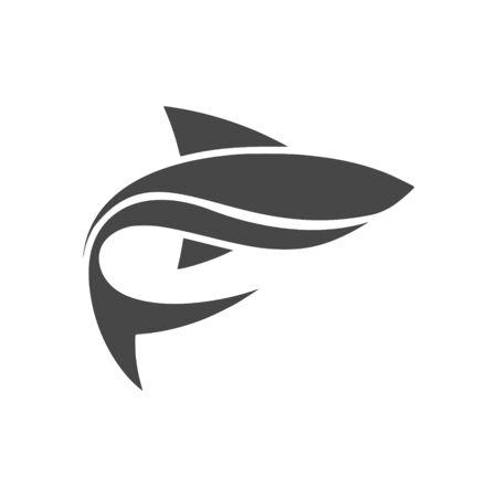 Fish simple flat sticker