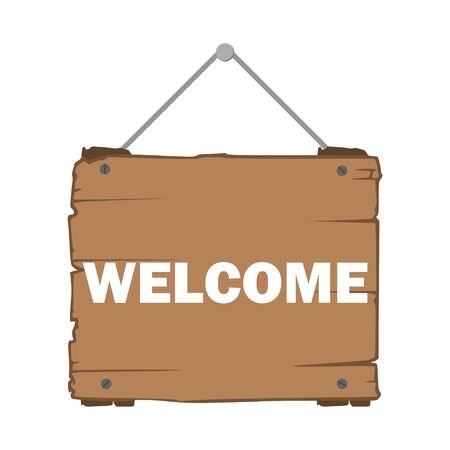 Welcome sign hanging sticker