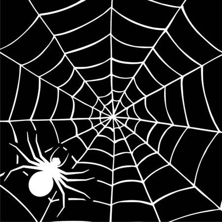 Scary spider web background. Sticker