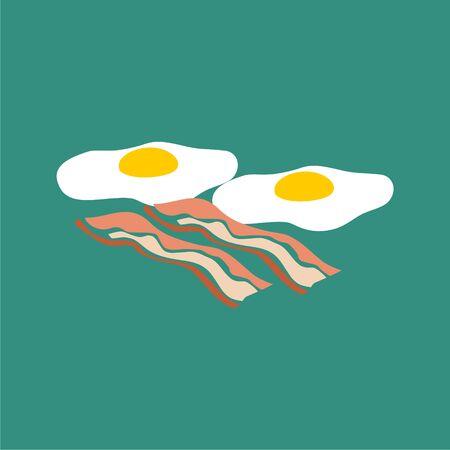 Breakfast, Fried eggs with bacon sticker