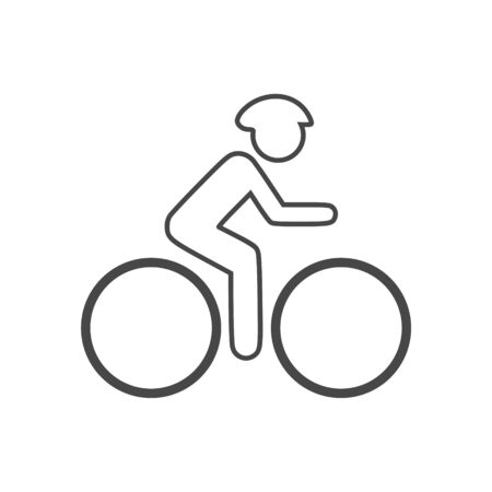 The cyclist icon, The man on a bicycle