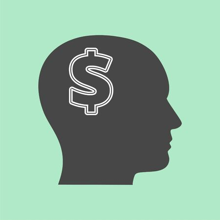 Mind concept graphic for money