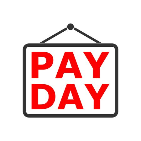 PAYDAY Announcement, Flat Illustration