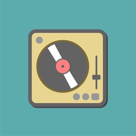 Gramophone icon, Vinyl player icon