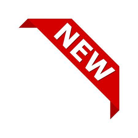 Nouvelle icône de vecteur d'étiquette de bannière de ruban de coin de produit Vecteurs