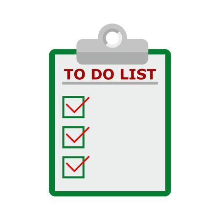 To-do list flat design concept