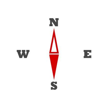 Compass icon vector  イラスト・ベクター素材