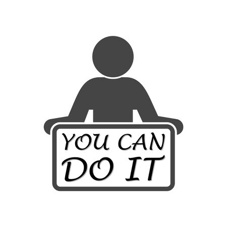 You Can Do It sign isolated on white background