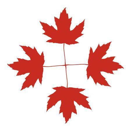 Maple leaf icon, autumn symbol