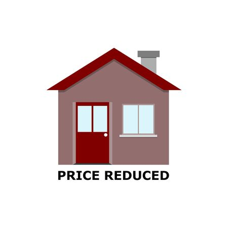Price reduced with house 矢量图像