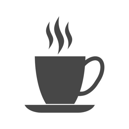 Coffee cup icon,  Coffee time, Coffee cup on white background