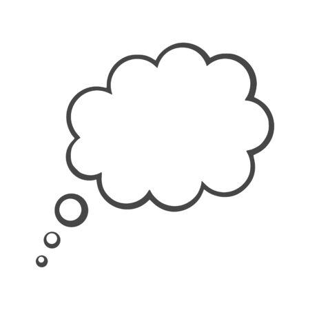 Gedankenwolke, Gedankenwolkensymbol Vektorgrafik